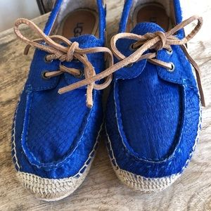 UGG AUSTRALIA Cobalt Blue Espadrille Boat Shoes 8M